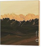 Mohave Desert Mountains Wood Print