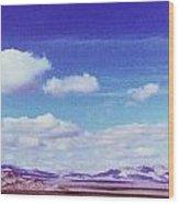 Mohave Desert Shadows Wood Print