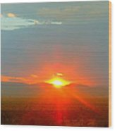 Mohave Sunset In Golden Valley Wood Print
