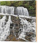 Mohawk Falls Wood Print