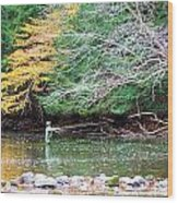 Mohican Fly Fishermen Wood Print