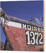 Moises The Fishing Boat Wood Print