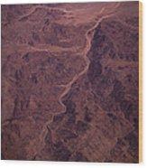 Mojave Desert Aerial Wood Print