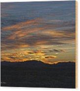 Mojave Desert Sunrise Wood Print