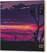 Mojave Desert Sunrise Wood Print