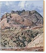 Mojave Desert View - Valley Of Fire Wood Print