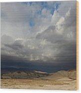 Mojave Storm Wood Print