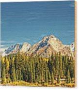 Molas Lake And The Needle Range Pan 2 Wood Print