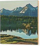 Molas Lake Sunrise Wood Print