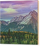 Molas Pass Sunset Panorama Wood Print