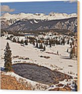 Molas Pass Winter Wood Print