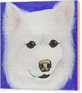 Molly The American Eskimo Dog Wood Print