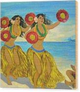 Moloka'i Hula 2 Wood Print