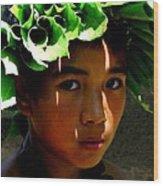 Molokai Keiki Kane Wood Print
