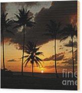 Moloki Sunset Wood Print