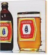 Molson Ex Wood Print