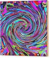 Molten Color Wood Print by RJ Aguilar