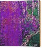Molten Earth Purple Wood Print