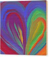 Molten Heart27 Wood Print