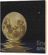Molten Moon Wood Print