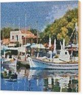 Molyvos Port Wood Print