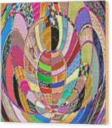 Mom Hugs Baby Crystal Stone Collage Layered In Small And Medium Sizes Variety Of Shades And Tones Fr Wood Print