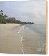 Mombassa Beach Wood Print