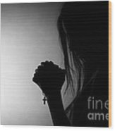 Moment Of Prayer Wood Print