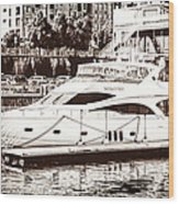 Momousse Yacht In Montreal Wood Print