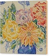 Bouquet Of Love Wood Print