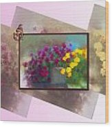 Moms Garden Art Wood Print