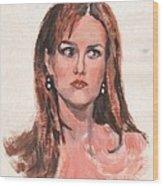 Mona Lisa De Prisa Wood Print
