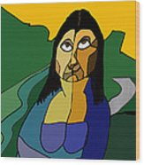 Mona Lisa Updated Wood Print