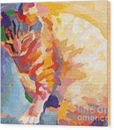 Mona Lisa's Rainbow Wood Print by Kimberly Santini