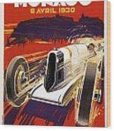 Monaco Grand Prix 1930 Wood Print