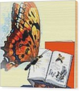 Monarch Books Wood Print by Melodye Whitaker