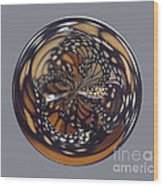 Monarch Butterfly Abstract Wood Print