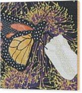 Monarch Butterfly On White Tulip Wood Print by Lynda K Boardman