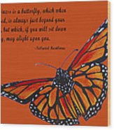 Monarch Butterfly Pismo Beach Wood Print