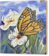 Monarchs In The Gardens Wood Print
