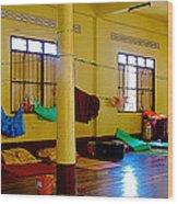 Monastery Dormitory In Tachilek-burma Wood Print