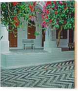 Monastery Symi Greece Wood Print