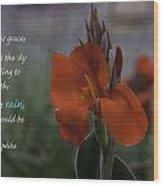 Monday Motivation - Red Canna Wood Print
