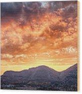 Mondello Sunset Wood Print by Viacheslav Savitskiy