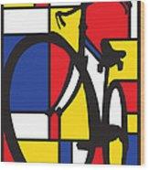 Mondrian Bike Wood Print