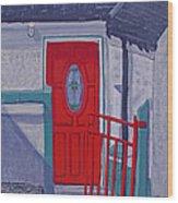 Monedarragh Back Door And Gate Wood Print