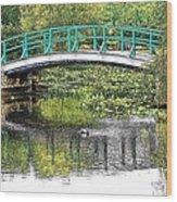 Monet Bridge Wood Print