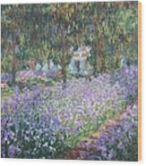 Monet, Claude 1840-1926. The Artists Wood Print