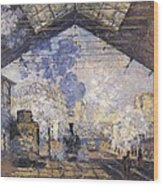 Monet, Claude 1840-1926. The Gare St Wood Print by Everett