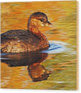 Monet Grebe Wood Print